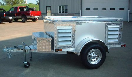 Four Crate Trailer With Top and Front Storage-A